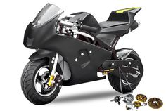 49cc PS50 Rocket Bigbore Pocketbike inkl. BIGBORE Set  Minibike vers. Farben
