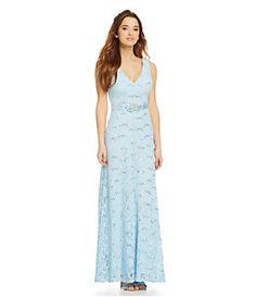 B. Darlin Long Lace Embellished-Waist Dress | Dillard's Mobile