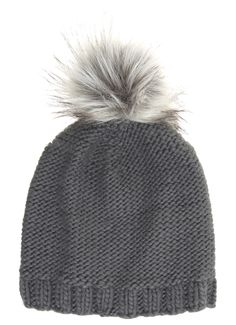 7b5842df8ea Fuchsia Hat with Black Faux Fur Pom Pom