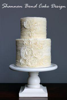Shannon Bond Cake Design / Buttercream Ruffles and Rosettes  Learn how to make this cake here:  http://shannonbondcakedesign.ecwid.com/#!/Tutorials/c/13452096/offset=0&sort=normal
