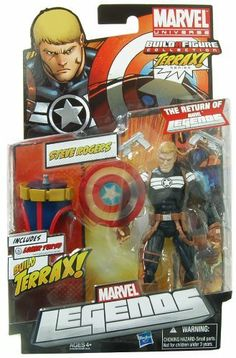 Marvel Legends 2012 Series 1 Action Figure Steve Rogers Terrax BuildAFigure Piece by Hasbro Toys. $22.99. Variant Shield Randomly Packaged. Each figure contains a part of Terrax The Tamer. Collect the whole set and you can form this large figure!