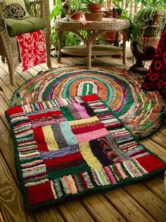 Shirret rugs