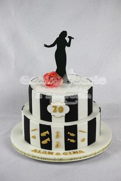 Joint 70th Birthday Cake - cake by Suzanne Readman - Cakin' Faerie