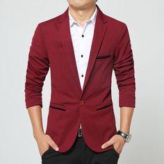 Men's Blazer 2017 Brand New Men's Casual Slim Fit Suit Coats Plus Size 5XL Terno Masculino