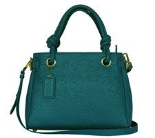Leather Leather Hand- & Shoulderbag 11996-16 Turquoise