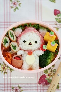 Korilakkuma strawberry bento