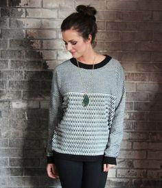 Contrast Knit Sweater #shopmaude
