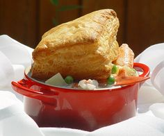 Maine Lobster Pot Pie - Puff Pastry Recipe