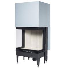 Austroflamm 71 S3 - Sliding Door 71x57 S3, 3 Sided Flat Sliding Door wood burning insert stove