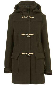 Bound Seam Duffle Coat from Topshop Fall Jackets, Down Coat, Keep Warm, Winter Coat, Bristol, Mantel, Winter Fashion, Women's Fashion, Raincoat