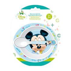 Vajilla 2 Piezas: Cuenco + Cuchara Disney Baby Mickey azul