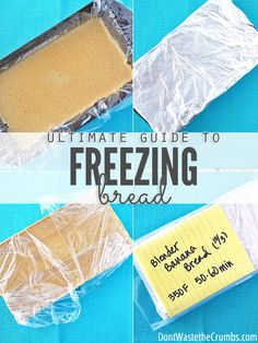 Kitchen Hack! You've got to see this ultimate guide to freezing bread, dough and other baked goods. Everything you could want is covered: cookies, brownies, pizza dough, biscuits... It takes the guess work out of freezing bread! :: DontWastetheCrumbs.com