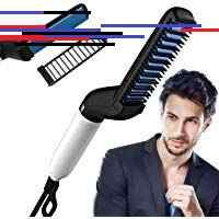ZIZLY Multifunctional Beard Hair Straightener Comb for Men Curly Hair Straightening Quick Hair Styling Comb for Natural Side Hair Detangling with Detachable Safe Comb Adjustable Temperature Comb Hair Brush Straightener, Hair Straightening, Hair And Beard Styles, Curly Hair Styles, Styling Comb, Curly Hair Men, Quick Hairstyles, Multifunctional, Natural