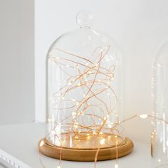 Copper and bell jars are a match made in heaven! http://www.lights4fun.co.uk/c/q/indoor-lights/micro-fairy-lights