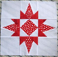 Florida Star Block Free Quilt Pattern