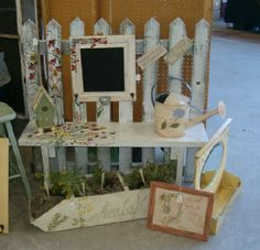 Love this idea to create a vanity table for little girls and just add a nice mirror you decorate or paint and a chair!