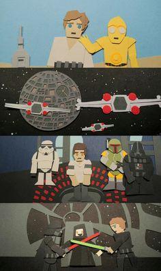 star wars papercraft.