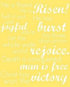 For easter! He has won the victory! Other printable banners and frameables too