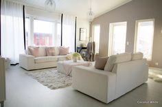 Coconut White: living room