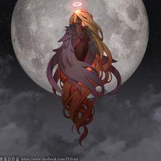 Pretty Art, Cute Art, Anime Fantasy, Fantasy Art, Art Sketches, Art Drawings, Character Art, Character Design, Ange Demon