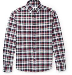 Michael Bastian - Plaid Cotton-Flannel Shirt   MR PORTER