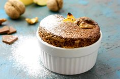 Chocolate and quinces souffle