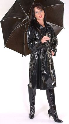 Raincoats For Women Fashion Refferal: 8809935770 Vinyl Raincoat, Plastic Raincoat, Pvc Raincoat, Black Raincoat, Parka, Vinyl Clothing, Rubber Raincoats, Skirts With Boots, Vinyls