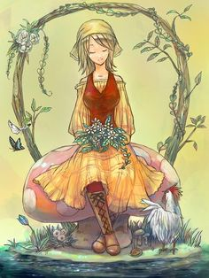 Lillian from Harvest Moon Tale of Two Towns. SSOOOO PRETTY LOVE THIS DRAWING!!