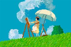 8-bit Ghibli by Richard J. Evans, via Behance