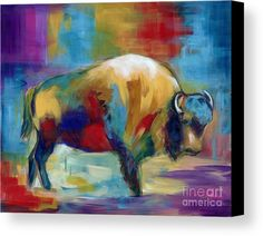 American Buffalo Canvas Print by Marilyn Dunlap.  All canvas prints are professionally printed, assembled, and shipped within 3 - 4 business days and delivered ready-to-hang on your wall. Choose from multiple print sizes, border colors, and canvas materials.