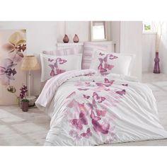 Lenjerii de pat dublu din Bumbac 100% Poplin Sueno Lilac Bedroom Retreat, Bed Sets, Flat Sheets, Duvet Cover Sets, Poplin, Bedding Sets, Lilac, Comforters, Pillow Cases