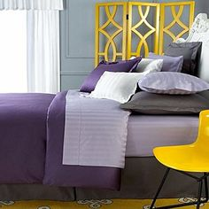 Charter Club Damask Solid 500 Thread Count King Duvet Cover Iris Dark Purple * See this great product by click affiliate link Amazon.com