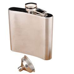 Matraz de la cadera de 6 onz. de licor de whisky del bolsillo de acero inoxidable de 6 onz. con embudo