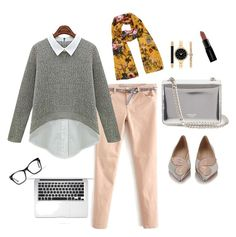 """""""Miss.Anna on work"""" by arianipermana on Polyvore featuring Oasis, Rochas, Sophia Webster, Style & Co., Smashbox, Spitfire, women's clothing, women's fashion, women and female"""