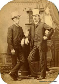 Decatur County History: Unidentified photo: 2 dashing Greensburg men
