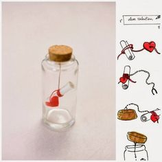 Message in a bottle! Modern DIY valentines card!
