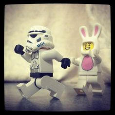 Stormtrooper Junior running away from an overly attached Mr bunny(Taken with Instagram at RIPAS Hospital )