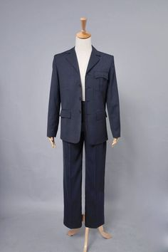 Doctor Who 10th Doc. Blue Pinstripe Costume Custom-made by cossky