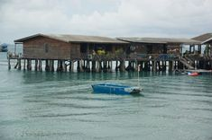 Floating restaurant in Ko Samet, Thailand. We had to take that little boat to the restaurant, no bridge, no road.