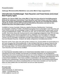 Salzburger Wohnimmobilien-Marktführer zum achten Mal in Folge ausgezeichnet. Words, Things To Do