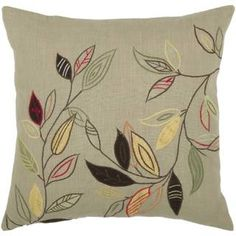 """Check out the Rizzy Home T03876 18"""" x 18"""" Pillow Cover with Hidden Zipper in Sage/Green"""