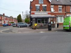 Passing Bicycle Garage before entering Whitworth Park
