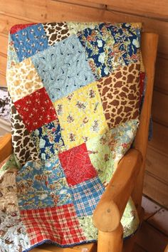 Cowboy Quilt - I've been saving fabrics to make my own, but I need to buy a lot more.