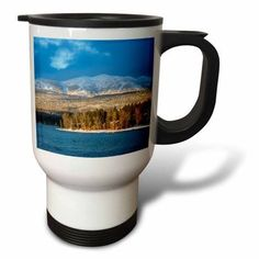 3dRose Ski runs of Whitefish Mountain Resort in Whitefish, Montana, USA, Travel Mug, 14oz, Stainless Steel
