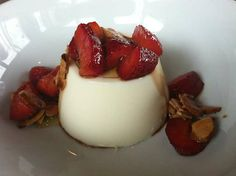 Buttermilk Panna Cotta with Strawberries at Anchovies & Olives (Seattle, WA). #UniqueEats #dessert