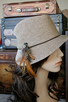 If a fedora fell in love with a fishing hat . . . this would be their child. I like the fishora.