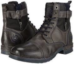 bugattiF94548 - botas de caño bajo Hombre , color Gris, talla 40