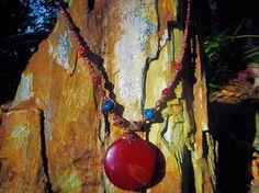 Carnelian necklace southwestern necklace jasper necklace