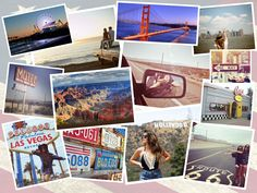 """Take a look at this classy """"U.S. Roadtrip"""" collage made with Photo Collage Maker software. Get even more photo collage design ideas at http://10steps.sg/inspirations/7-photo-collage-design-ideas-for-your-travel-shots-in-2016! #TravelCollage #CollageIdeas"""