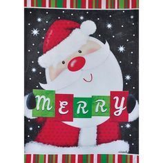 1.04-ft W x 1.5-ft H Christmas Garden Flag Rain or Shine 1.04-ft W x 1.5-ft H Christmas Garden Flag | 27-3129-189